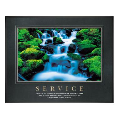 Service Waterfall Motivational Poster