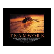 All Motivational Posters - Teamwork Rowers Motivational Poster