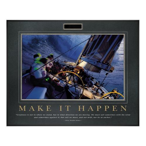 Make It Happen Sailboat Motivational Poster