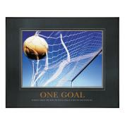 One Goal Soccer Ball Motivational Poster