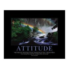 All Motivational Posters - Attitude Rainbow Motivational Poster