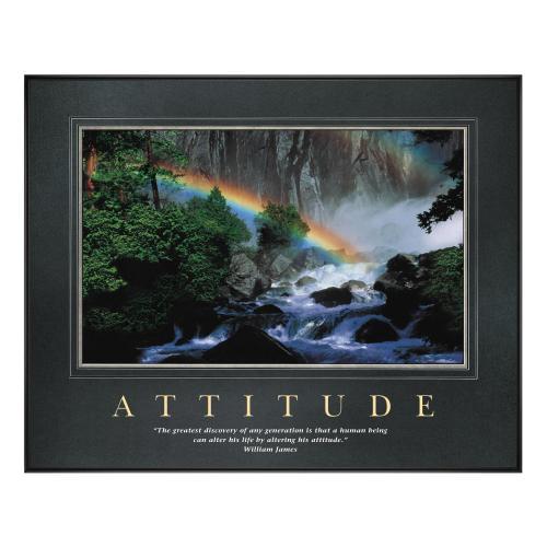 Attitude Rainbow Motivational Poster