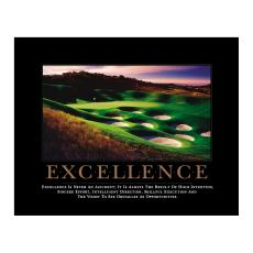 All Motivational Posters - Excellence Golf Motivational Poster