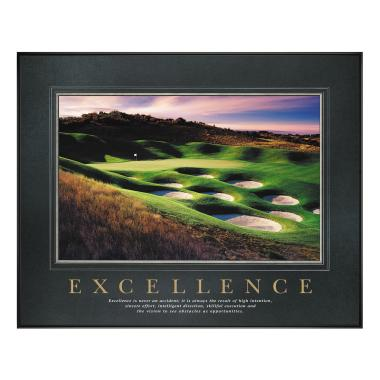 Excellence Golf Motivational Poster