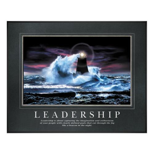 Leadership Lighthouse Motivational Poster
