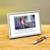 Priorities Girl Framed Desktop Print