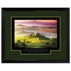 Vision Hilltop Framed Motivational Poster