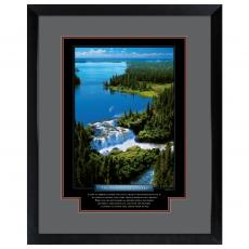 Change Waterfall Framed Motivational Poster