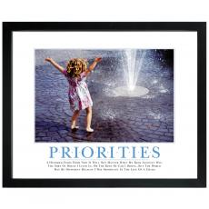 Priorities Girl Motivational Poster