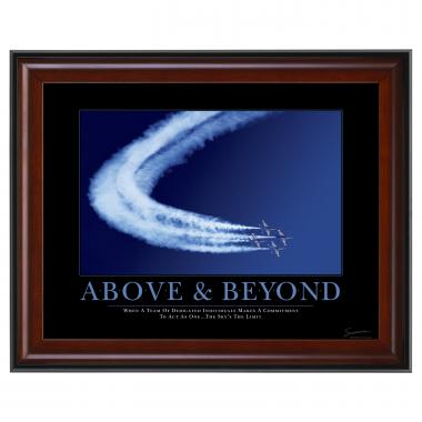 Above & Beyond Jets Mini Motivational Poster