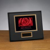 Quality Rose Framed Award