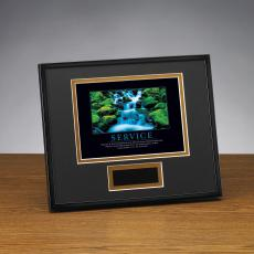 Service - Service Waterfall Framed Award
