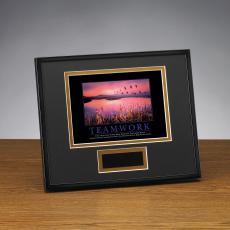 Framed Award - Teamwork Cranes Framed Award