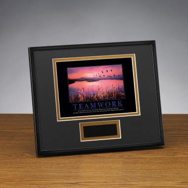 Teamwork Cranes Framed Award