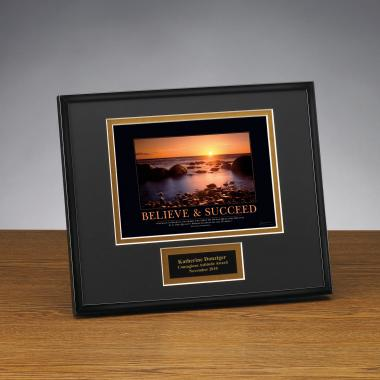 Believe & Succeed Framed Award