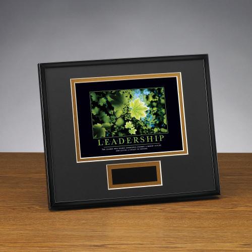 Leadership Leaf Framed Award