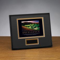 Excellence Golf Framed Award
