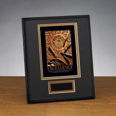 Framed Award - Excellence Wood Carving Framed Award