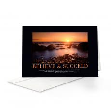 Classic Motivational Cards - Believe & Succeed 25-Pack Greeting Cards