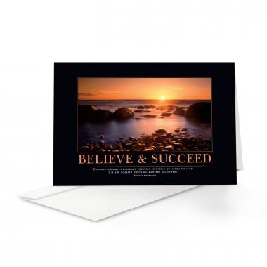 Believe & Succeed 25-Pack Greeting Cards