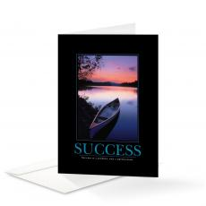 Classic Motivational Cards - Success Canoe 25-Pack Greeting Cards