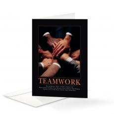 Classic Motivational Cards - Teamwork Hands 25-Pack Greeting Cards