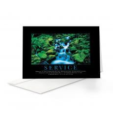 Classic Motivational Cards - Service Waterfall 25-Pack Greeting Cards