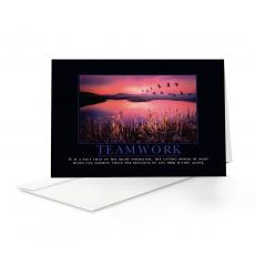 Classic Motivational Cards - Teamwork Cranes 25-Pack Greeting Cards