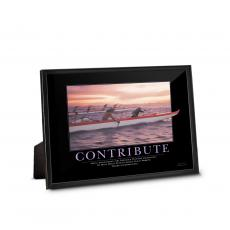 Classic Motivational Prints - Contribute Paddlers Framed Desktop Print