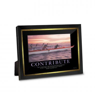 Contribute Paddlers Framed Desktop Print