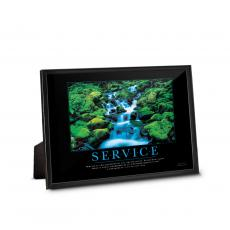 Service - Service Waterfall Framed Desktop Print