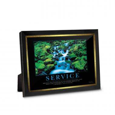 Service Waterfall Framed Desktop Print