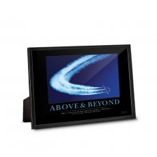 Classic Motivational Prints - Above & Beyond Jets Framed Desktop Print