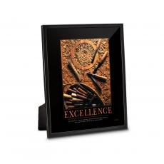 Classic Motivational Prints - Excellence Wood Carving Framed Desktop Print