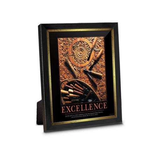 Excellence Wood Carving Framed Desktop Print
