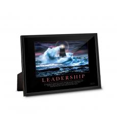 Leadership Lighthouse Framed Desktop Print Admin Gift