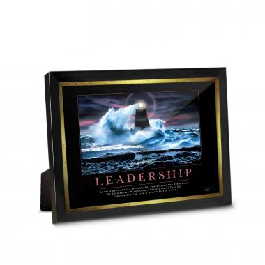 Leadership Lighthouse Framed Desktop Print