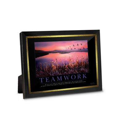 Teamwork Cranes Framed Desktop Print