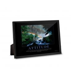 Classic Motivational Prints - Attitude Rainbow Framed Desktop Print