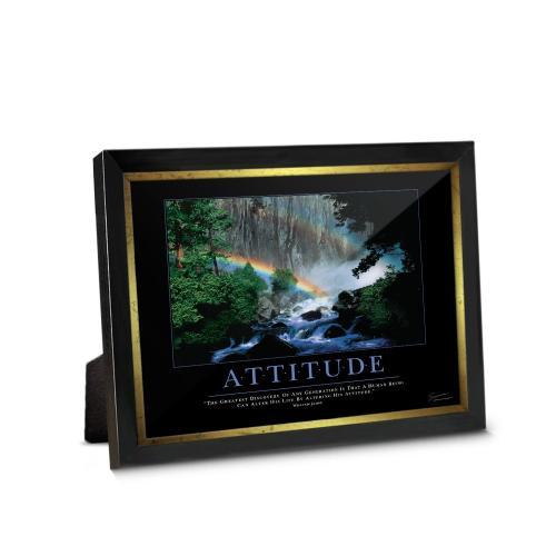 Attitude Rainbow Framed Desktop Print