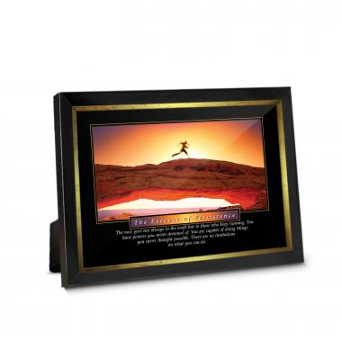 Essence of Persistence Runner Framed Desktop Print