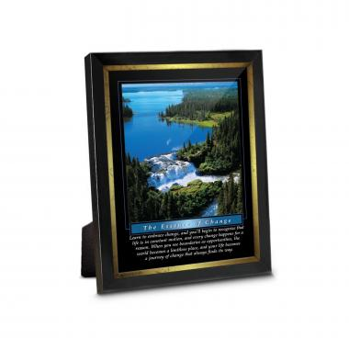 Change Waterfall Desktop Framed Print