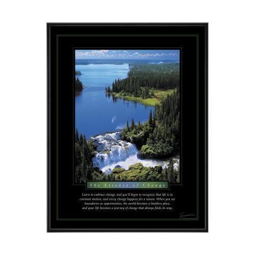 Change Waterfall Mini Motivational Poster