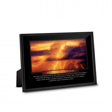 Power of Attitude Framed Desktop Print