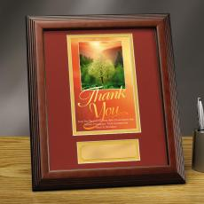 Thank You Sunrise Framed Award