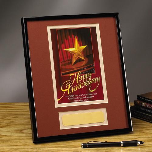 Happy Anniversary Framed Award
