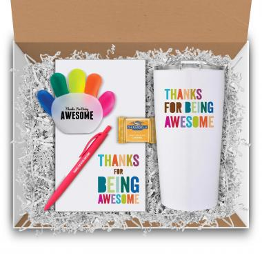 Thanks for Being Awesome Tumbler & Supplies Gift Box