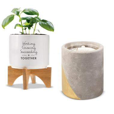 Holiday Gift Box - Modern Candle & Planter