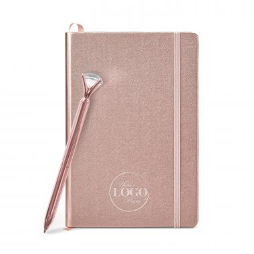 Thank You Gift Box - Rose Gold Journal Gift Set