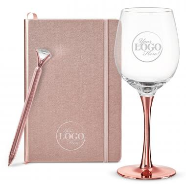 Thank You Gift Box - Rose Gold Wine Down Gift Set